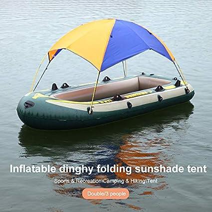 # 1 Doppel Schlauchboot Zelt Kajak Sonnenschutz Faltbarer Nylon Sonnenschutz Mit Festem Zubeh/ör SHUNYUS Gummiboot Sonnenschutzzelt