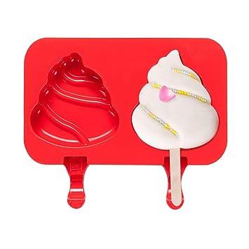 SunriseE Molde de helado de grado alimenticio Molde de silicona, Molde antiadherente para cubitos de