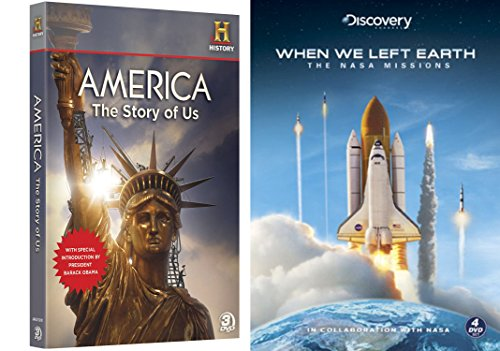 History Collection - When We Left Earth (Limited Edition Steelbook) & America The Story Of Us (3-Disc Collection) 7-DVD Bundle