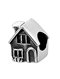 Everbling House Home Sweet Home 925 Sterling Silver Bead Fits Pandora Charm Bracelet