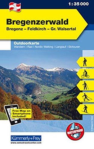 Bregenzerwald: Nr. 01 Outdoorkarte Österreich 1:35 000 (Kümmerly+Frey Outdoorkarten Österreich)