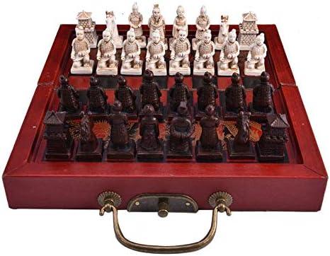 Juego de Mesa portátil de Viaje, Juego de ajedrez pequeño Retro Ming y dinastía Qing Ajedrez de Guerreros de Terracota Retro Chinos, para Adultos y niños: Amazon.es: Deportes y aire libre