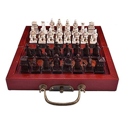 Juego de Mesa portátil de Viaje, Juego de ajedrez pequeño Retro ...