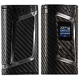 e cigarette vaporizer case - SMOK ALIEN SKIN 220W - Custom Protective Vinyl Decal for ecig - Best quality cover - Second life to your box mod - wrap and enjoy - BONUS STICKERS (Carbon 4D Black)