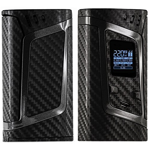 SMOK ALIEN SKIN 220W - Custom Protective Vinyl Decal for ecig - Best quality cover - Second life to your box mod - wrap and enjoy - BONUS STICKERS (Carbon 4D Black)