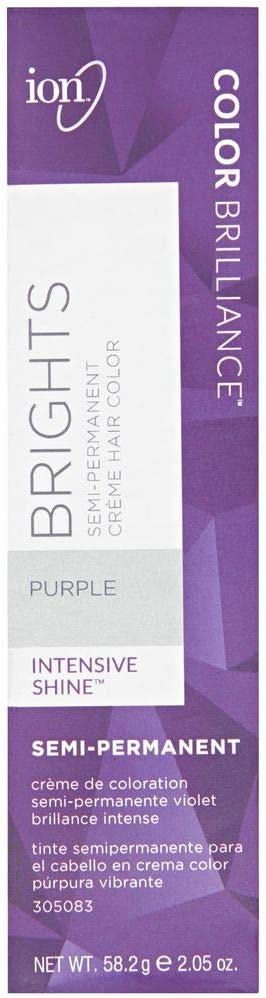 Ion Color Brilliance Semi-Permanent Brights Hair Color Purple by Ion