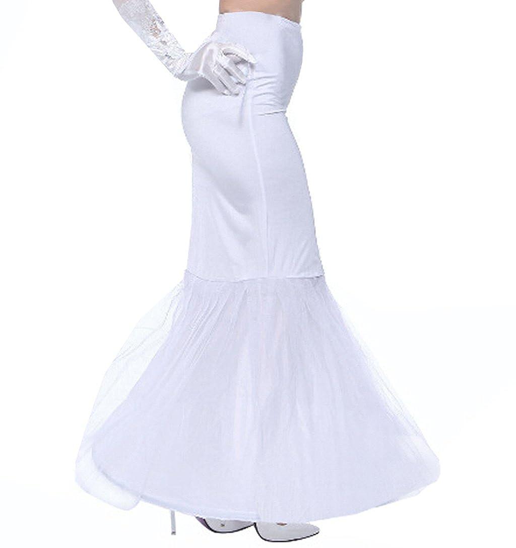 Edith qi Petticoat Enagua 3/4/6 Aros, Largo Miriñaque, Crinolina Vestido de Novia, Aros Ajustable, Un tamaño, Conveniente para el tamaño XS-XXL