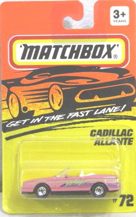 Matchbox 'CADILLAC ALLANTE 1993 #72 Get in the Fast Lane VERY RARE