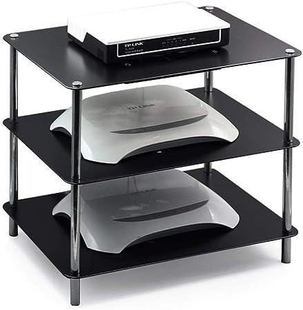 Estante flotante de 3 niveles para componentes de TV, Rack de WiFi Rack Consola de TV
