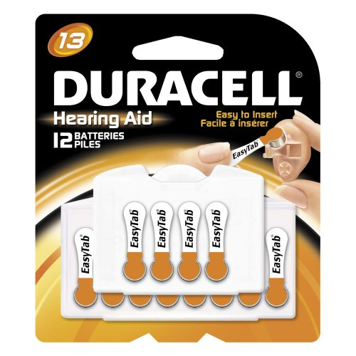 Duracell EasyTab Hearing Aid Batteries Size 13 (24 batteries total)