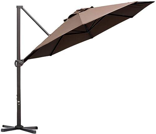 Abba Patio Offset Cantilever Umbrella 11-Feet Outdoor Patio Hanging Umbrella