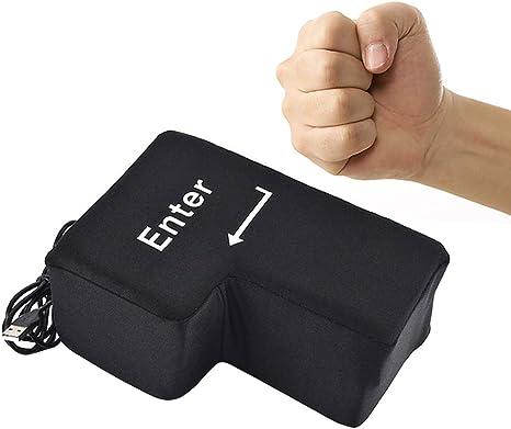 Ruiting Big Enter-Taste Kissen Stress Relief Toy Home Office Nap Kissen Neuheit Super Sized USB Enter-Taste Pillow