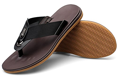 Hw-goods Mens Sandali Infradito Per Uomo Fashion Estate Flip-flop Nero