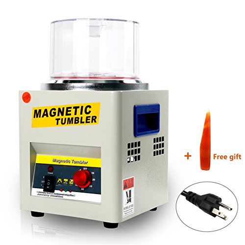 Speed Finishing - YaeTek Magnetic Tumbler 180mm Jewelry Polisher Tumbler 2000 RPM KT-185 Jewelry Polisher Finisher with Adjustable Speed for Jewelry (180mm)