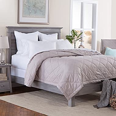 Tommy Bahama Bedding - Monogrammed Grey (Taupe) Blanket - Light Weight Microfiber - 100  x 100  (Oversized Queen)