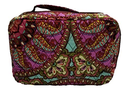 - Vera Bradley Iconic Large Blush and Brush Make-Up Cosmetic Case, Signature Cotton (Resort Medallion/Burgundy)