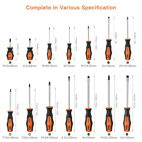 TACKLIFE 26PCS Magnetic Screwdriver Set with Case, Includs Slotted/Phillips/Torx Precision Screwdriver, Repair Tool Kit - HSS1A by TACKLIFE (Image #2)
