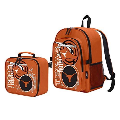- The Northwest Company Officially Licensed NCAA Texas Longhorns Accelerator Backpack & Lunch Kit Set, Orange, 16