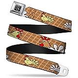 chicken belt buckle - Buckle-Down Seatbelt Belt - Waffle/Chicken Poses - 1.5
