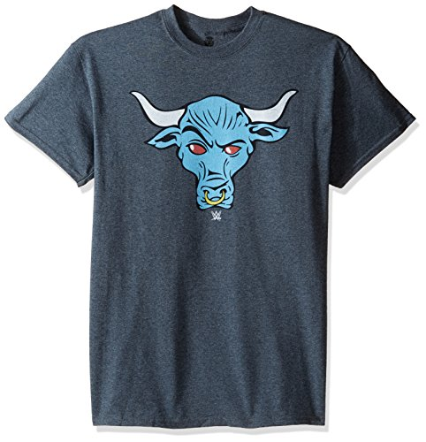 WWE Men's Big and Tall Rock Brahma Bull T-Shirt, Dark Heather, 5XL by WWE