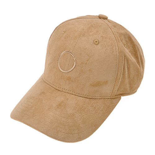 ZLYC Unisex Velvet Baseball Cap Embroidered Dad Hat Adjustable With Back Velcro, Khaki