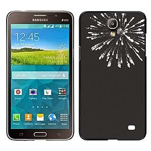EJOY---Cubierta de la caja de protección para la piel dura ** Samsung Galaxy Mega 2 ** --fuegos artificiales de año nuevo blanco negro 4'th