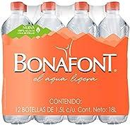 Bonafont, Agua Natural, 1.5 litros, 12 Pack