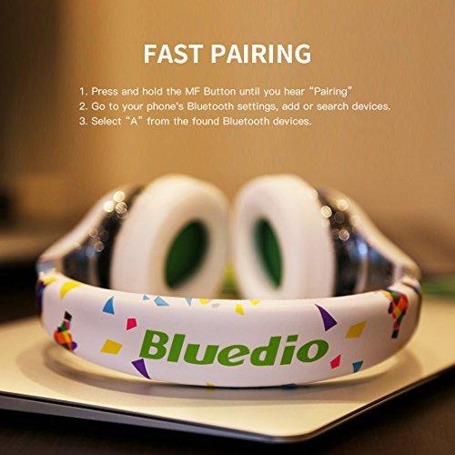 Bluedio A (Air) Stylish Wireless Bluetooth Headphones with Mic (White)
