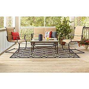 hampton bay patio set belleville padded sling 4piece patio furniture seating set - Hampton Bay Outdoor Furniture