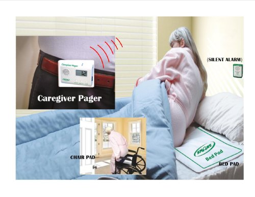 Bed & Chair Alarm with Wireless Pager - (No Alarm Near Patient) - Plus Kerr Absorbent Protector ()