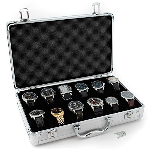 Tech Swiss TSBOXAL12 Watch Storage Aluminium Case Watch Case