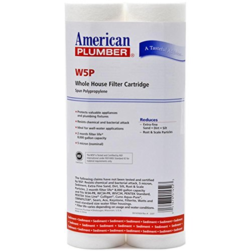 W5P American Plumber Whole House Sediment Filter Cartridge (2-Wedge)