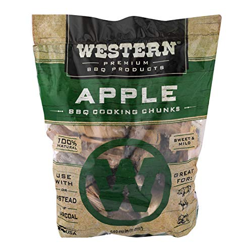 Western Premium BBQ Products Apple BBQ Cooking Chunks, 549 cu in
