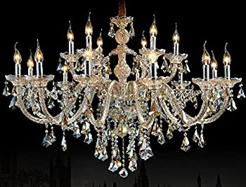 Generic Crystals Chandelier 18 Pendant Lights Arms Color Cognac