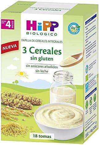 Papilla ecológica de 3 cereales integrales HIPP (400 gr)