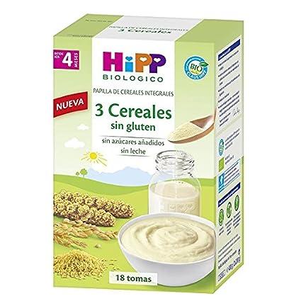 Papilla Biológica 3 Cereales sin gluten 4M HiPP, 400 g