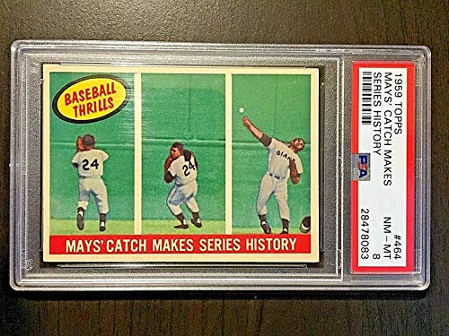 (1959 Topps #464 Willie Mays Catch Makes Series History PSA NM-MT 8#28478083)