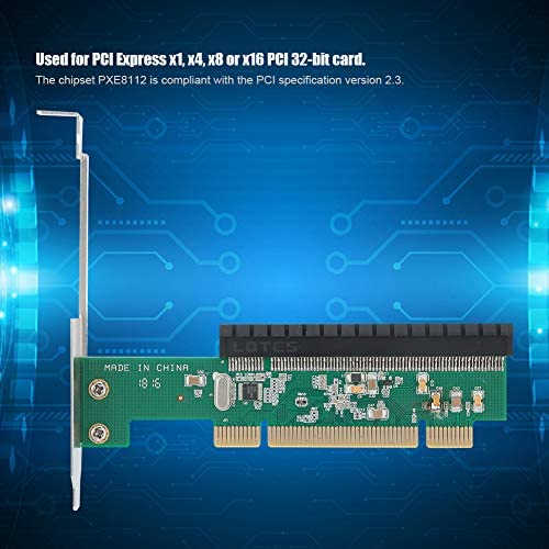 x4 x8 or x16 Riser Card Bewinner PCI to PCI-E Bridge Conversion Adapter Card,ST42 PXE8112 Chipset for PCI Express x1