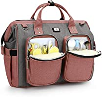 Pomelo Best Wickel Bag with Waterproof Changing Pad and 2 Prams Hooks Adjustable Shoulder Strap Multifunctional Shoulder...