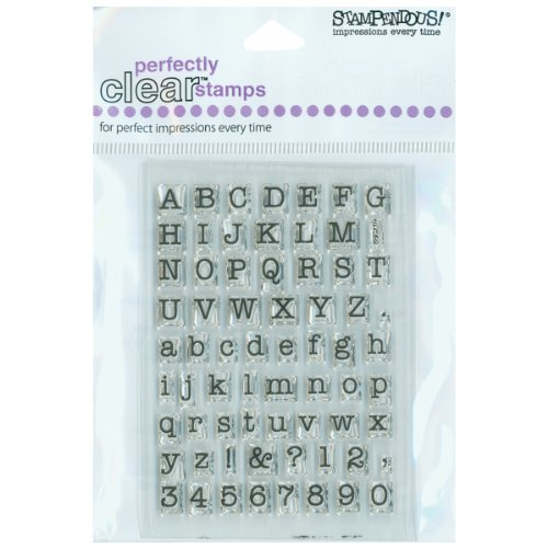 STAMPENDOUS SSC219 Small Typewriter Alphabet