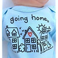 Newborn Going Home ® Outfit Boy, Coming Home Outfit for Baby Boy, Leaving Hospital Outfit, Just Born or NICU Grad, Long Sleeve, Blue, up to 12.5 lbs