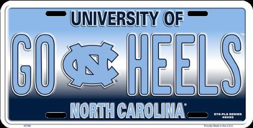 HangTime GO HEELS UNC Novelty License Plate Tag City Auto tag
