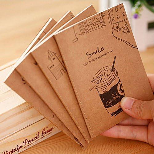 Mod/èles assortis,Paquet de 6 YEAHIBABY Petit Carnet de Poche,Carnet Lign/é Petit Carnet Bloc-notes avec couverture imperm/éable