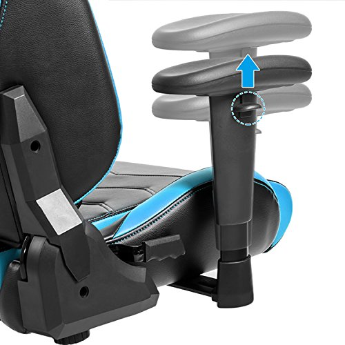 Modern Luxe Racing Gaming Chair Executive Swivel Leather