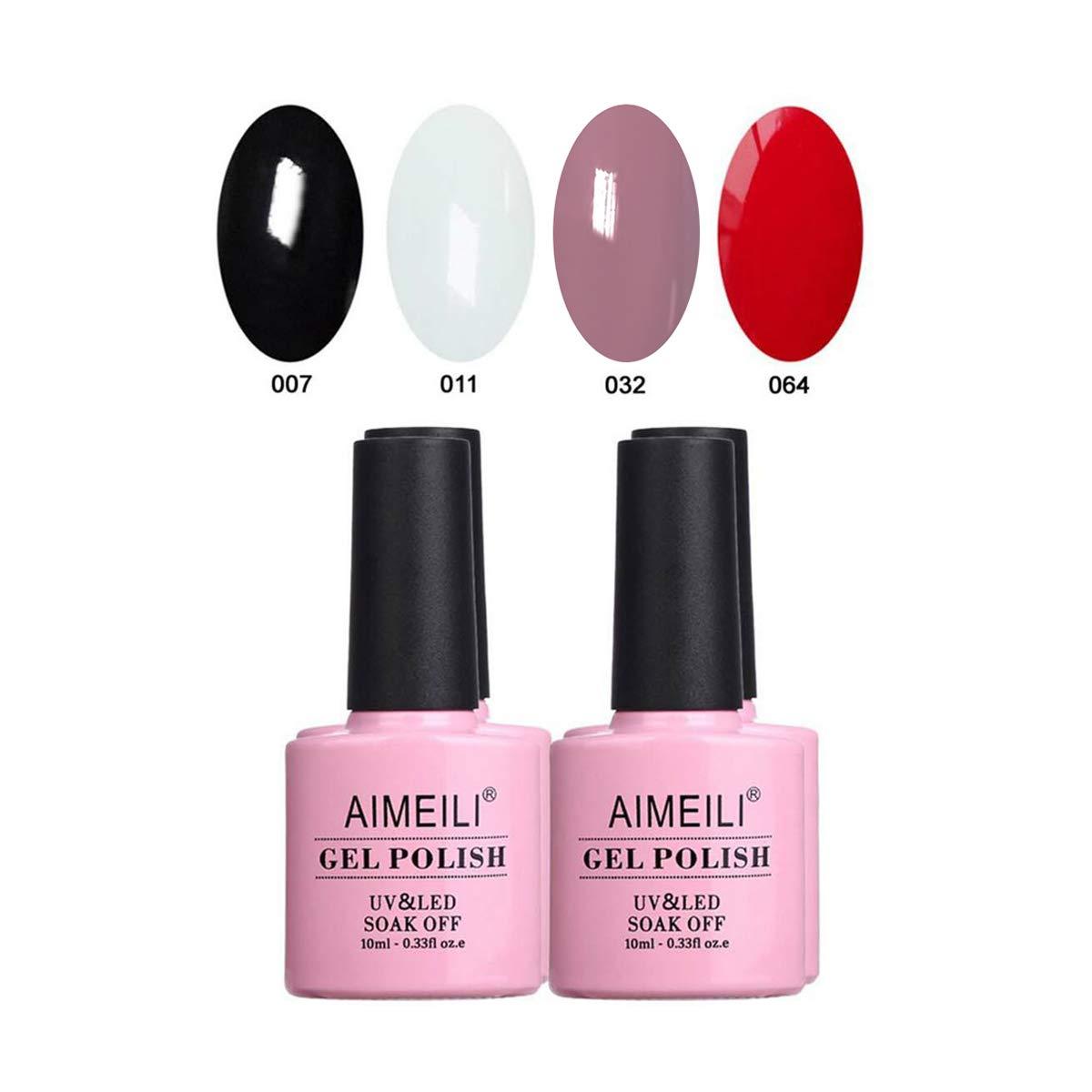 AIMEILI Kit de Esmalte Semipermanente Para Uñas Esmaltes de Uñas Esmaltes en Gel Uñas UV LED