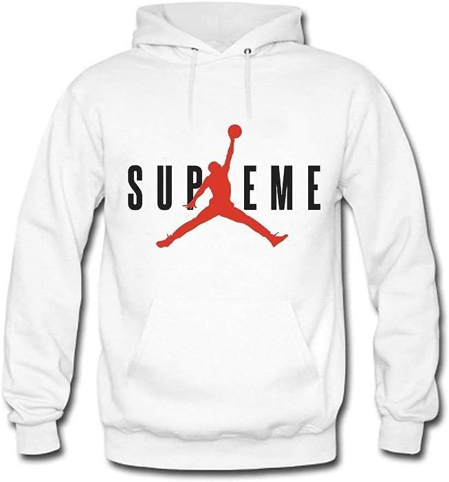 Laisla fashion Supreme Air Jordan 1 Sudaderas con Capucha para Hombre Clásico Otoño Invierno Casual Moda Sudadera con Capucha Sudadera con Capucha De Manga ...