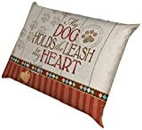 Laural Home Holds The Leash Waterproof Dog Bed, 18-Inch by 28-Inch