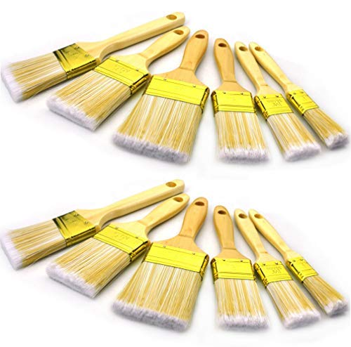 "10 Piece 3inch 2""2.5"" 1""1.5inch wooden handle Premium paint brush,paint brushes,paintbrush,angle sash paint brush,paint brush set,paintbrush,paintbrushes,painting brush,painting brushes,painters brush"