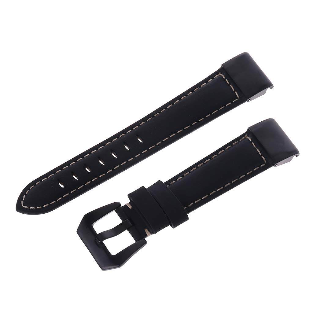 Tebatu Watch Band,Quick Fit Replacement Strap with for Garmin Fenix 5/5 Plus/Forerunner 935/Approach S60/Quatix 5 Genuine Leather 22mm