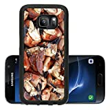 Luxlady Premium Samsung Galaxy S7 Aluminum Backplate Bumper Snap Case IMAGE ID: 18293505 Fresh crab legs in ice